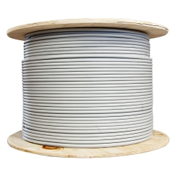 Bulk Cat6a Gray Ethernet Cable Stranded UTP (Unshielded Twisted Pair) Spool 1000 foot
