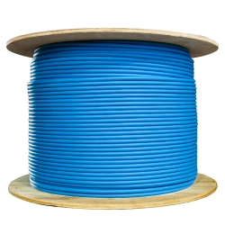 Bulk Cat6a Blue Ethernet Cable Stranded UTP (Unshielded Twisted Pair) Spool 1000 foot