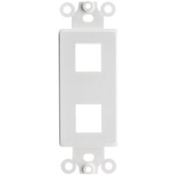 Decora Wall Plate Insert White 2 Hole for Keystone Jack