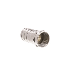 RG6 Fpin Coaxial Crimp On Connector with Long (1/2 inch) Barrel