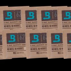 Boveda Humidipak - 10 Packs Year Supply - 62% 8 Gram Pak