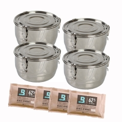 Airtight Weed Containers 4 Pack - CVault 8 Liter Weed Containers