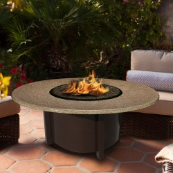 Carmel Round Fire Pit Sunset Gold Top