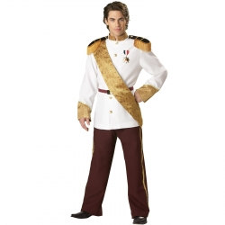 Prince Charming Elite Collection Adult Costume - Jacket & Pant: 100% Polyester - Large