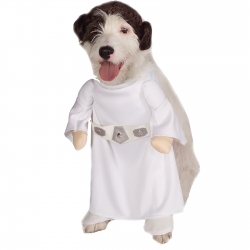 Star Wars Princess Leia Dog Costume - 100% Polyester - Large