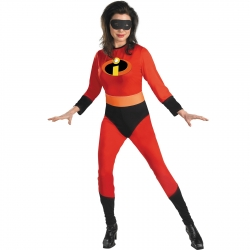 The Incredibles - Mrs. Incredible Adult - Jumpsuit: 100% Polyester (exclusive of trim); Belt - Standard One-Size
