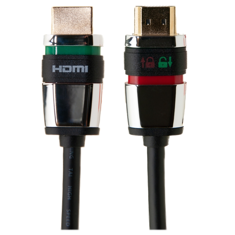 Locking HDMI Cable High Speed with Ethernet HDMI Male 4K  6 foot