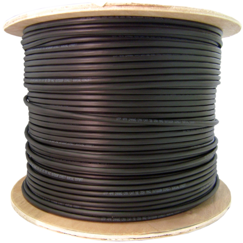 12 Fiber Indoor/Outdoor Fiber Optic Cable Multimode 50/125 OM2 Plenum Rated Black Spo