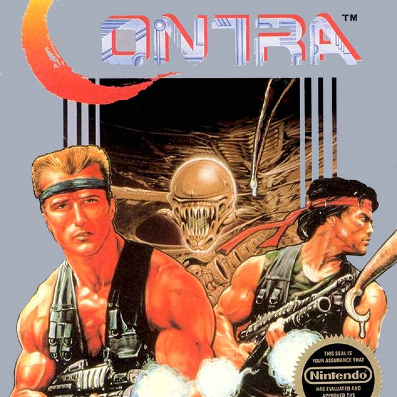 Original Nintendo Contra Pre-Played - NES